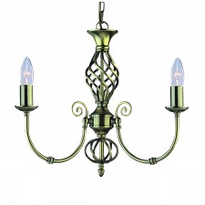 Zanzibar Ceiling Light - antique brass 3 light