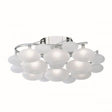 Dulcie Flush Ceiling Light - Acid Glass
