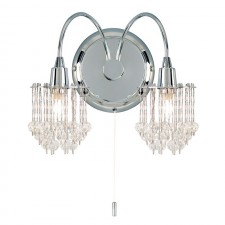 Crystal Droplet Wall Light (Switched)