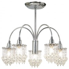 Crystal Droplet Ceiling Light - 5 Light