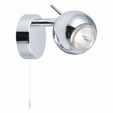 Eyeball Adjustable Spotlight Head - 1 Spot, Chrome (Switched)