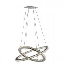 Clover LED Ring Pendant Light - Polished Chrome