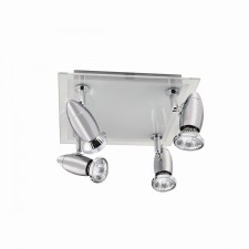 Saturn Ceiling Light - Square Chrome
