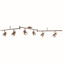 Jupiter 6 Light Antique Copper Split Bar