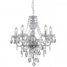 Marie Therese Chandelier - 5 Arm Chrome