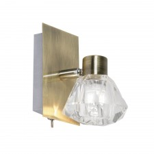 Tona Single Wall Spotlight - 1 Light, Antique Brass
