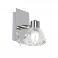 Tona Single Wall Spotlight - 1 Light, Chrome