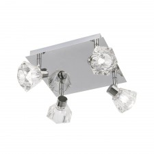 Tona Ceiling Spotlight - 4 Light, Chrome