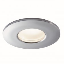 Ip44 Recessed Downlighter, Chrome, Gu10 Led