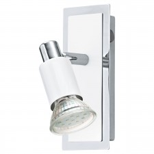 1-light w.switch white/chrome 'ERIDAN'