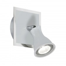 Biba Wall Spotlight - 1 Light, White with Chrome