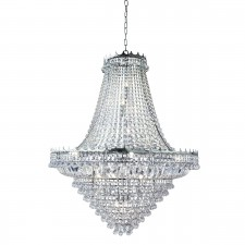 Versailles - 19 Light (Dia 1022Cm) Clear Crystal Chandelier, Chrome Frame