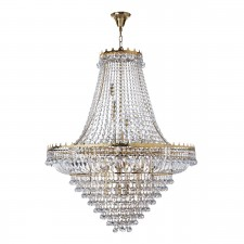 Versailles - 19 Light (Dia 102Cm) Clear Crystal Chandelier, Gold Frame