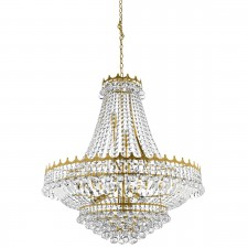 Versailles - 13 Light (Dia 82Cm) Clear Crystal Chandelier, Gold Frame