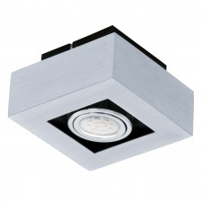 CL/1 GU10-LED alu-br./chrome/black 'LOKE