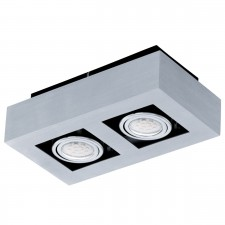 CL/2 GU10-LED alu-br./chrome/black 'LOKE