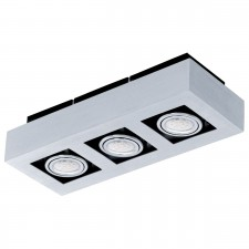 CL/3 GU10-LED alu-br./chrome/black 'LOKE