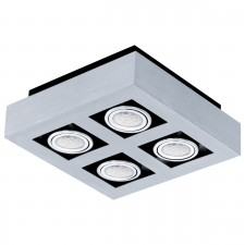 CL/4 GU10-LED alu-br./chrome/black 'LOKE