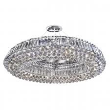 Vesuvius Ring Crystal Glass DIA 82CM Pendant Light - 10 Light, Chrome
