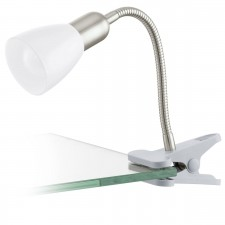 clip-lamp/1 nickel-m/white 'DAKAR 3'