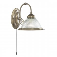 quick view american diner wall light switched single