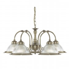 American Diner Ceiling Light - antique 5 light