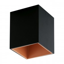 LED-DL 100X100 BLACK/COPPER 'POLASSO'