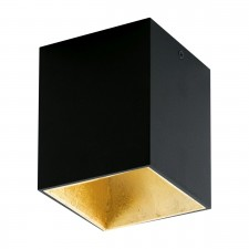 LED-DL 100X100 BLACK/GOLD 'POLASSO'