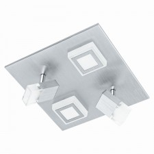 LED-WL/CL/2+2 alu-brushed/sat.'MASIANO'