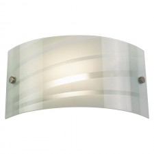 Glass White Strips Wall Light