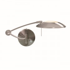 Adjustable Wall Light - Hover Satin Silver