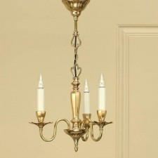 Interiors1900 Asquith Solid Brass 3-Light Chandelier