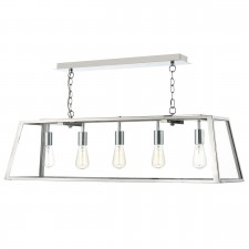 Academy 5 Light Pendant Stainless Steel
