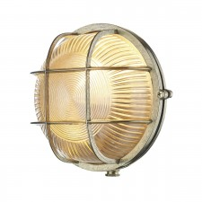 David Hunt Admiral 1-Light Round Wall Light Brass