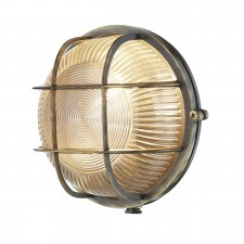 David Hunt Admiral 1-Light Round Wall Light Antique Brass