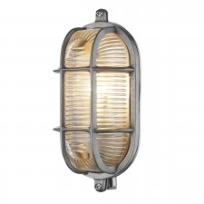 David Hunt Admiral 1-Light Small Oval Wall Light Nickel