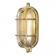 David Hunt Admiral 1-Light Small Oval Wall Light Brass