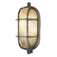 David Hunt Admiral 1-Light Small Oval Wall Light Antique Brass