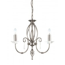 Elstead AG3 POL NICKEL Aegean 3 - Light Chandelier Polished Nickel