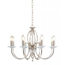 Elstead AG8 POL NICKEL Aegean 8 - Light Chandelier Polished Nickel