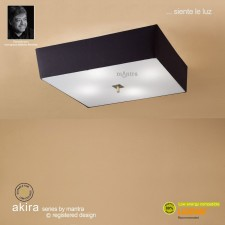 Akira Ceiling 4 Light Antique Brass With Black Shade