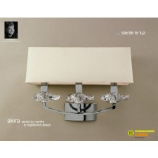 Akira Wall 3 Light Polished Chrome With Cream Shade