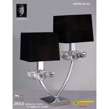 Akira Table 2 Light Polished Chrome With Black Shade