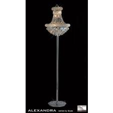 Diyas Alexandra Floor Lamp 8 Light Chrome/Crystal