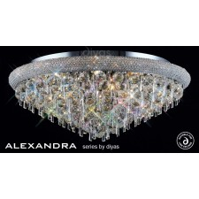 Diyas Alexandra Ceiling 16 Light Chrome/Crystal