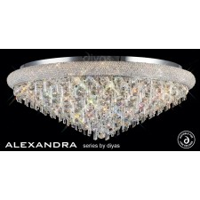 Diyas Alexandra Ceiling 18 Light Chrome/Crystal
