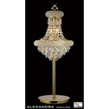 Diyas Alexandra Table Lamp 6 Light French Gold/Crystal