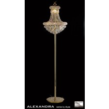 Diyas Alexandra Floor Lamp 8 Light French Gold/Crystal