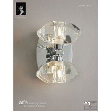 Alfa Wall Lamp 2 Light Polished Chrome Switched