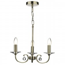 Allegra 3 Light Ceiling Pendant - Antique Brass